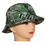 Protezione di bambù all'ingrosso di caccia del cappello della benna di verde di stampa