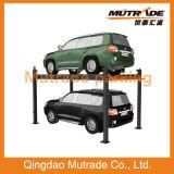 Elevador hidráulico simples do estacionamento do carro do borne do Ce 3ton quatro