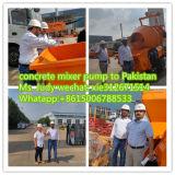 Bomba concreta do reboque de China com o misturador para a venda quente a Nipal India