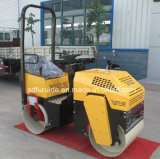Doppelte Trommel 1 Tonnen-Verdichtungsgerät-Vibrationsrolle mit berühmtem Dieselmotor