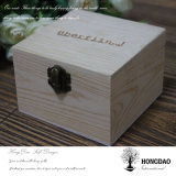Hongdao niedriger Preis-natürliche Farben-fester hölzerner Uhr-Kasten für Geschenk _E