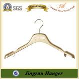 Gancho de roupa revestido da cor do ouro do PVC (JR602B)