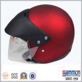 빛 분홍색 열리는 마스크 기관자전차 또는 스쿠터 헬멧 (OP211가)