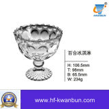Articolo da cucina di vetro Kb-Hn0631 della ciotola della chiavetta della ciotola di vetro del gelato