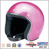 고품질 Paillette 포도 수확 Harley 기관자전차 헬멧 (OP237)