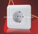 Feito no interruptor da parede da potência europeia do interruptor do soquete elétrico da cor da fábrica de China feito na fábrica de China
