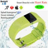 2016 impermeable pulsera inteligente con Control de Frecuencia Cardíaca (ID100)