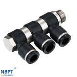 Garnitures de pipe pneumatiques de cornière du joint quatre de Nbpt