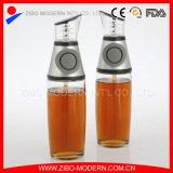 Dispensador sano de la botella de cristal de la cocina de la prensa del vinagre del aceite de cocina y de la taza de medición