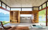 Stanza di legno tradizionale di sauna della casa di stile della Finlandia (M-6046)