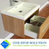 Do revestimento de madeira da cor da melamina gabinete de banheiro cerâmico da bancada (ZY 3025)