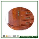 Высокая лоснистая роскошная деревянная коробка хранения ювелирных изделий