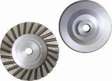 Doppia rotella della tazza del Turbo di riga con la base di alluminio