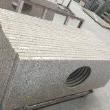 Partie supérieure du comptoir de salle de bains de granit de jaune de rouille de Shandong G682