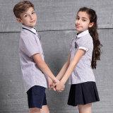 Diseño primario de los uniformes escolares de los niños del uniforme escolar de la venta al por mayor de los muchachos de las camisas de encargo unisex de las muchachas