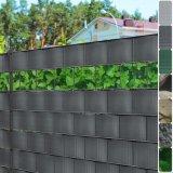 Máscara da privacidade da seleção da cerca do jardim de Uneed folhas de 35m ou de 70m + grampos verdes da montagem