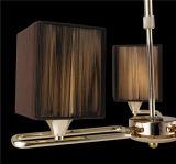 Iluminación ligera pendiente de la lámpara del dormitorio del cuadrado del paño de la iluminación de Guzhen para la decoración casera