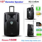Verkaufsschlager 15 Zoll-wasserdichtes Gitarren-Karaoke-beweglicher Laufkatze-Lautsprecher