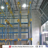 Movimentação do armazém no sistema do armazenamento de racking