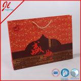 Bolsa de papel roja para las compras, regalo, promocional, alimento