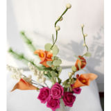 La última decoración casera con Flowers005 artificial