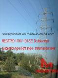 Тип башня подвеса цепи Megatro 110kv 1d5-Sz3 двойной (светлого угла) передачи