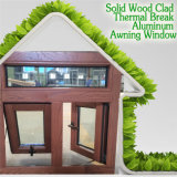 Ventana compuesta de madera de aluminio americana del toldo, ventana americana del estilo de la alta calidad para la casa de gama alta