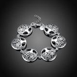 Baum-Form-hängendes Armband-Silber überzogenes Schmucksache-Geschenk des Form-Leben-Baum-fünf