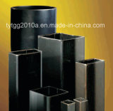 Quadrat u. rechteckige schwarze Stahlrohre