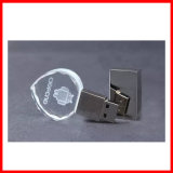 Mecanismo impulsor cristalino del flash del USB del USB Pendrive del corazón