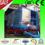 O tipo móvel dobro encena o purificador de petróleo do transformador do vácuo
