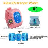 Múltiples Luanguage niños perseguidor del reloj del GPS con el botón Sos (H3)