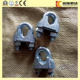Clip simple recto de câble métallique de dispositifs de fixation d'acier inoxydable de matériel de calage