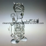 Waterpijp van het Glas van het Booreiland van het Ei van Fab van de Demon van het Ontwerp van Ccg de Nieuwe Met Band Perc