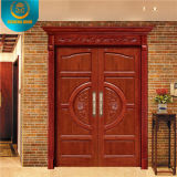 Европейское Style Double Wood Door с Carving (DS-9010)