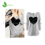 T-shirt de Charming de 2014 formas para a Mola-Autumn Long Sleeve Plus Sizes Sweatshirt de Tops do querido de Women