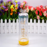 260ml Crystal Diamond Baby Glass Bottle con Rompono-Resistant Sleeve