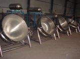 Gás do aço inoxidável/vapor/aquecimento elétrico que inclina chaleira de cozimento Jacketed do potenciômetro/revestimento com agitador