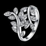 Monili occidentali di modo dell'anello di figura della pianta dell'argento sterlina 925 bei