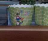 Tasse/impression remplaçable de cuvette de papier/avec une languette