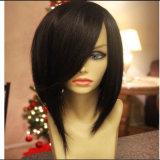 Peruca cheia peruana de Bob da peruca do laço de Glueless do cabelo humano do Virgin do preço de grosso