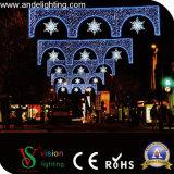 Decoração comercial ao ar livre da luz de rua do Natal