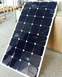 경쟁가격 100watt 18V Sunpower 세포 반 유연한 태양 전지판