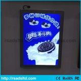 도매 광고 전시 호리호리한 LED 자석 가벼운 상자