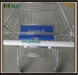 Chariot galvanisé Mjy-80A2 à caddie de supermarché