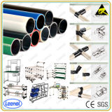 Conduttura Rack System Lean Pipe con Joint Round Coated Tube