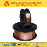 Fil solide du fil MIG de soudure d'en cuivre de CO2 d'Aws Er70s-6 avec le boisseau 15kg/D270 de 1.2mm