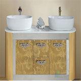 Chapa de aço inoxidável de lixamento da cor do espelho dourado para a decoração do banheiro