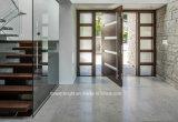 側光が付いている基本記入のドアの現代デザインピボット木製のドア