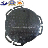 Botola circolare cinese del fornitore Qt500-7 della fonderia in coperchi di botola duttili del ferro